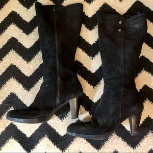 La Canadienne black suede boots, Sz 8.5